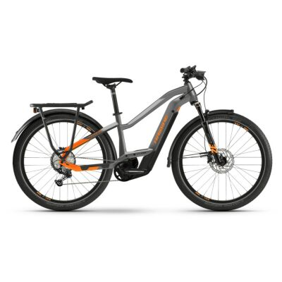 Haibike Trekking 10 i625Wh E-Bike Low Standover 12-G SLX 2021 | BCXK titan/lava matte