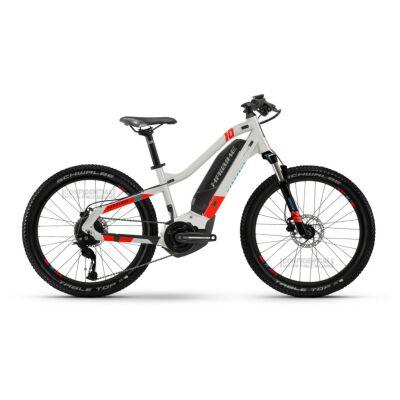 Haibike HardFour 400Wh E-Bike 9-G Altus 2021 | cool grey/red/cyan | XS