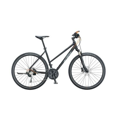 KTM LIFE ACTION D Crossrad 2021 | black matt (grey+orange glossy)