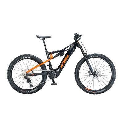 KTM MACINA PROWLER MASTER / E-Bike Fully 2021 | metallic black (orange)