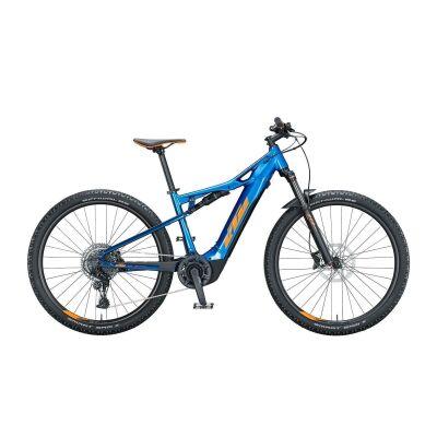 KTM MACINA CHACANA 294 / E-Bike Fully 2021 | metallic blue (orange+eveblue)