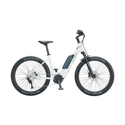 KTM MACINA AERA P272 US E-Bike MTB-Tiefeinsteiger 2021 | metallic white (grey+blue)