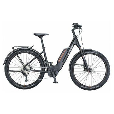 KTM MACINA AERA P272 LFC US E-Bike MTB-Tiefeinsteiger 2021 | black matt (grey+orange)