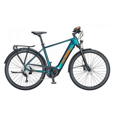 KTM MACINA SPORT 630 H E-Bike Trekkingrad 2021 | green purple flip (orange+black)