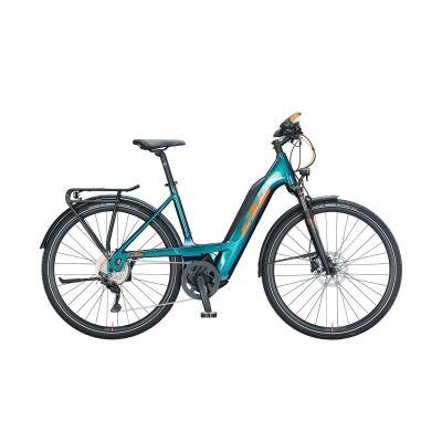 KTM MACINA SPORT 630 TS E-Bike Trekkingrad 2021 | green purple flip (orange+black)