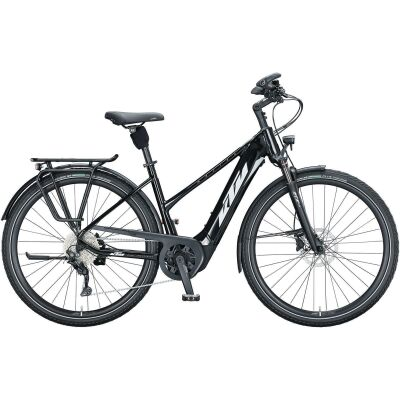 KTM MACINA TOUR CX 610 D E-Bike Trekkingrad 2021 | metallic black (white+golden green)