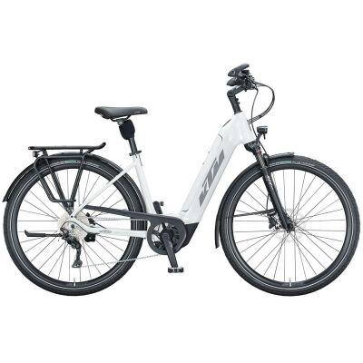 KTM MACINA TOUR CX 610 US E-Bike Trekkingrad 2021 | metallic white (grey+golden green)