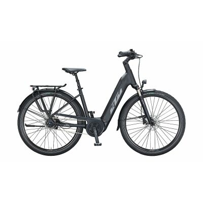 KTM MACINA CITY A510 US E-Bike Trekkingrad 2021   black matt (grey+orange)