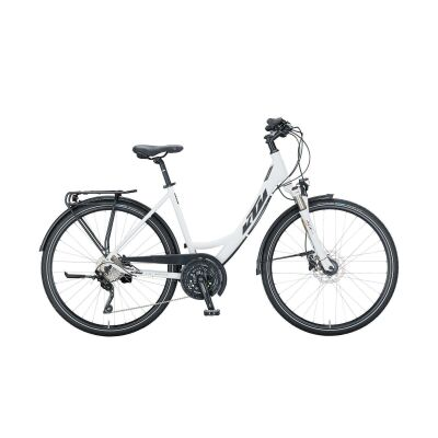 KTM VENETO LIGHT DISC E Trekkingrad 2021 | white matt (black+red)