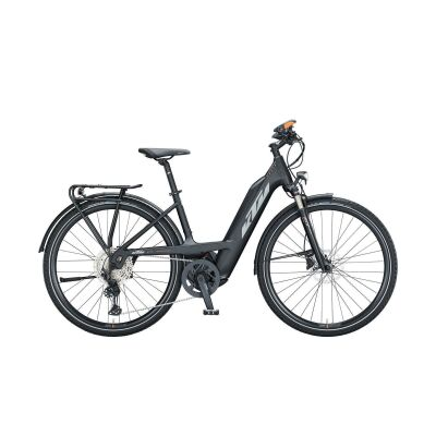 KTM POWER SPORT 12 PLUS PTS 51CM TS E-Bike Trekkingrad 2021 | black matt (grey+orange)