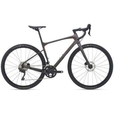Giant Revolt Advanced 3 Gravel Bike 2021 | warm black / saffron matt-gloss