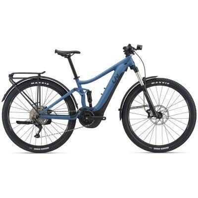 Liv Embolden E+ EX Damen E-Fully 2021 | grayish blue / black matt
