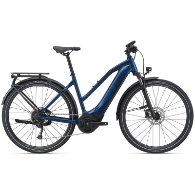Giant Explore E+ 2 STA Trapez Trekking Ebike 2021 | metallic navy / black satin-gloss