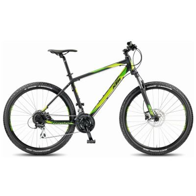 KTM CHICAGO 27.24 DISC H Black Matt / Green MTB Hardtail 2018