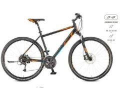 KTM LIFE ROAD 27 Disc H Herren Black Matt / Orange+Blue...
