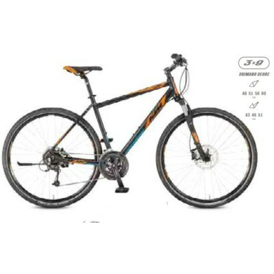 KTM LIFE ROAD 27 Disc H Damen Black Matt / Orange+Blue Crossrad 2017