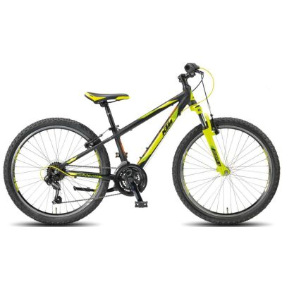 KTM WILD CROSS 24.18 MTB  Kind Black Matt / Yellow+Green+OrangeKinderrad 2018