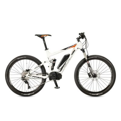 KTM MACINA LYCAN 275 White / Black+Orange E-MTB Fully 2017
