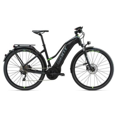GIANT EXPLORE E+ 1 S5 Black/Green Damen Trekking E-Bike 2018