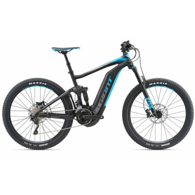 giant full e 1 5 pro black blue fully e bike 2018. Black Bedroom Furniture Sets. Home Design Ideas