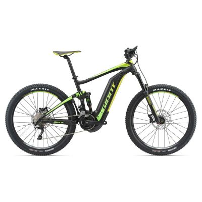 GIANT FULL-E+ 2 S5 Black/Green/Lemon Fully E-Bike 2018