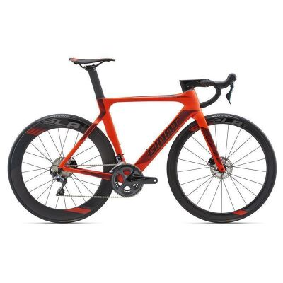 GIANT PROPEL ADVANCED DISC Neon Red Aero Rennrad 2018