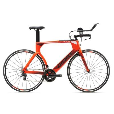 GIANT TRINITY ADVANCED Neon Red Tri TT Bike 2018